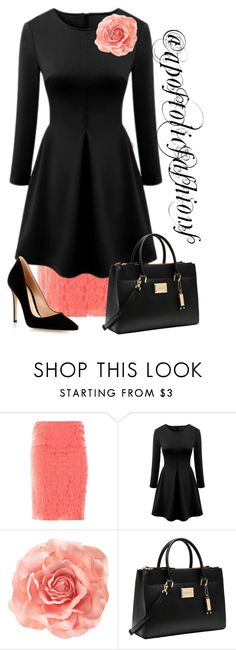 """Apostolic Fashions #1411"" by apostolicfashions ❤ liked on Polyvore featuring Nina Ricci, WithChic, H&M, Calvin Klein, Gianvito Rossi, modestlykay and modestlywhit"
