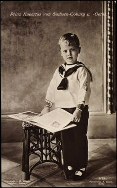 Prince Hubertus, 3rd child and 2nd son of Duchess Victoria Adelaide and Duke Charles Edward.
