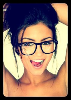 Glasses and a flawless face