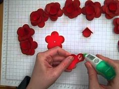 Stampin' Up ! Fancy Flower Punch roses - YouTube video tutorial.
