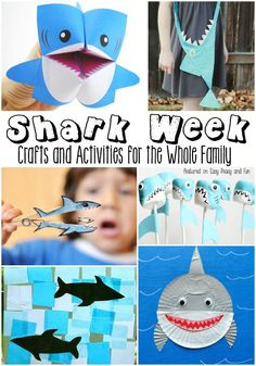 25 Shark Crafts and Activities for Kids - Shark Week - Easy Peasy and Fun