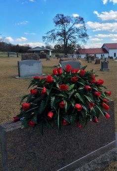 Cemetery Flowers Headstone Saddle for Memorial Day Personalized Arrangement for Dad Gift for Mom Decorations for Graves Tombstone Topper Grave Flowers, Cemetery Flowers, Funeral Flowers, Casket Flowers, Church Flowers, Grave Decorations, Flower Decorations, Funeral Sprays, Dark Red Roses