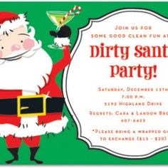 Funny Christmas invitations