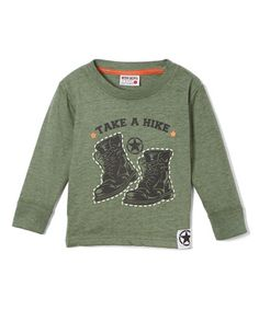 Love this Green 'Take a Hike' Long-Sleeve Tee - Infant, Toddler & Boys on #zulily! #zulilyfinds