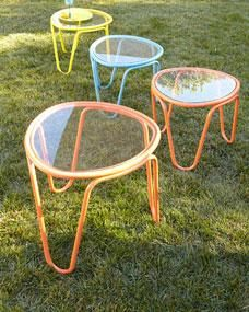 Two Scoop Side Tables