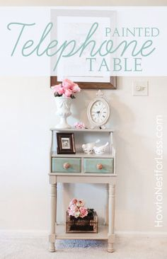 painted telephone table name