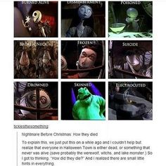 Nightmare Before Christmas: How They Died