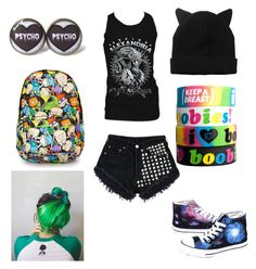 """""""Outfit54"""" by alternative-outfits ❤ liked on Polyvore featuring Episode, Levi's, Converse, Monki and Keep A Breast"""
