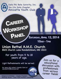 Tau Eta Zeta Youth Career Workshop.