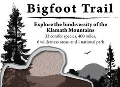 Bigfoot Trail homepage and logo Crescent City, Bigfoot, Pacific Ocean, Hiking Trails, Long Distance, Wilderness, National Parks, Explore, Logo