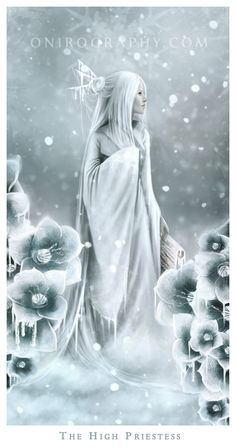 Tarot of Ices - 2 - The High Priestess by RozennIlliano on deviantART