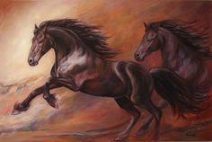 """Magestic Freedom,"" oil, by artist Janet Ferraro"