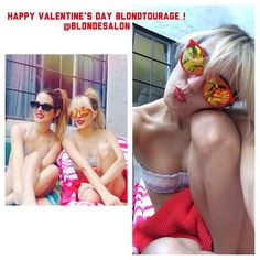 Happy Valentine's Day!!! Two Blondtourage blondies of the day today ❤️❤️❤️ @Montanna Freeman @magenmattox ❌❤️❌❤️ Caitlin  #valentinesday #blonde #girl #hair #me #love #highlights #bestoftheday #instafollow #instagood #instalike #photooftheday #picoftheday #gorgeous #blondtourage #comeinwereblonde