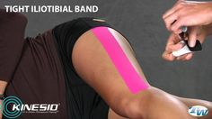 Kinesio Taping for Tight IT Band Tight It Band, K Tape, Kinesiology Taping, Psoas Muscle, Ehlers Danlos Syndrome, Athletic Training, Knee Pain, Hip Pain, Running Workouts