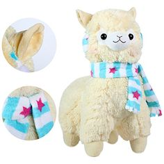 KSB 18 Giant Yellow Scarf And Earmuff Plush Alpaca100 Plush Stuffed Animals Doll ToysBest Birthday Gifts For The Children Kids *** Read more reviews of the product by visiting the link on the image.