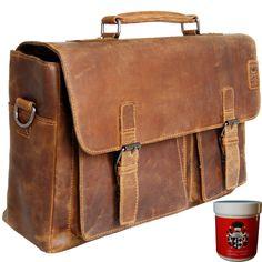 Sie sind auf der Suche nach einer guten Ledertasche für Beruf und Alltag? Dann schauen Sie sich einmal die braune Aktentasche LOUIS ANTOINE DE BOUGAINVILLE aus Grassland-Leder genauer an!Ihre neue braune Aktentasche aus LederNeben...