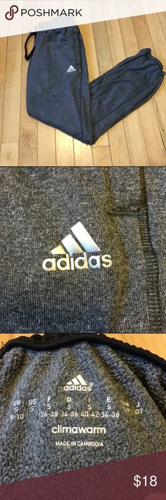 Adidas Sweats these sweats are like joggers because they get tight down around the ankles.  worn only a couple of times so in really good condition and the logo is still intact!    • open to offers 💰 • no trades ❌ • feel free to ask any questions 🤔 • interested in multiple items?  I can whip up a bundle for you, just ask! 🎁 adidas Pants Track Pants & Joggers