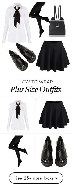 """School Uniform #1"" by shelly-marie-bulanon on Polyvore featuring Diane Von Furstenberg, Stuart Weitzman and WithChic"