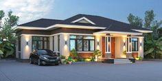 Modern Bungalow House Design, Bungalow House Plans, Bungalow Designs, 2bhk House Plan, Model House Plan, Modern House Philippines, Architect Design House, One Storey House, Philippine Houses