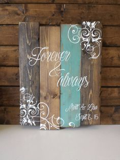 Personalized Wood Sign Reclaimed wood wall art by TinHatDesigns