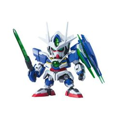 The QAN[T] (or Quanta) craze continues with this cute SD form!  The SD sports clear effect parts for the chest and GN Sword V bits.  The GN Sword can combine with the Sword bits to make the Buster Sword or the bits can go on the Shield for the Buster Shield. Markings stickers and even a stand are provided.