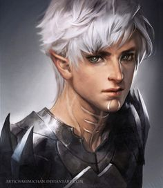 A softer Fenris than in the game, an interesting take on his facial style. loving it