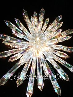 Large+Star+Tree+Topper | Details about CHRISTMAS GIANT PRELIT CRYSTAL TREE TOPPER STAR HUGE ...