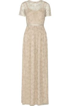 Needle & Thread Geo bead-embellished tulle gown | NET-A-PORTER