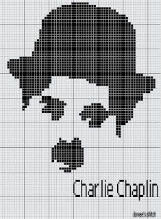 graficos em ponto cruz CHARLES CHAPLIN - Pesquisa Google