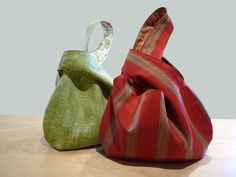 Japanese knot bags, so cute and fun to make. Great gift idea!