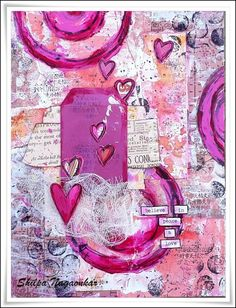 Neon Diary: Belive in Peace and Love... Journal page