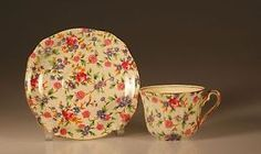 Royal Winton OLD Cottage Chintz CUP AND Saucer 1930 34 England | eBay