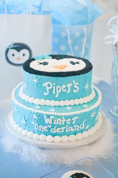 "Photo 9 of 17: snowflakes and penguins / Birthday ""Winter ""One""derland"" 