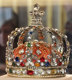 Louis XV's crown (now set with paste stones). It's on display at the Muséee du Louvre.