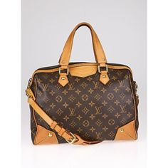 Pre-owned Louis Vuitton Monogram Canvas Retiro PM Bag ($1,095) ❤ liked on Polyvore featuring bags, handbags, monogrammed purses, pre owned purses, louis vuitton handbags, louis vuitton bags and canvas handbags