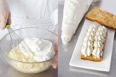 Découvrez cette recette de Crème pâtissière légère expliquée par nos chefs Creme Cupcake, Creme Dessert, Easy Cooking, Cooking Time, Creme Patissiere Chantilly, Cakepops, Kolaci I Torte, Ganache, Number Cakes