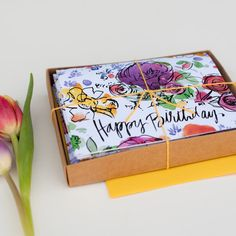 Watercolor Flowers Happy Birthday Cards with by anopensketchbook