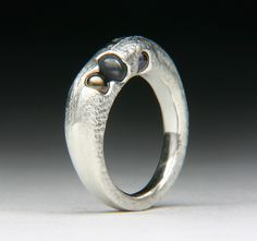 Float Cast Ball Bearings Silver Ring by Jewels Curnow | Flickr - Photo Sharing!