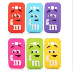 3D M&M Cartoon Character Chocolate Colorful Rainbow Beans Soft silicone phone case cover For Samsung Galaxy J1 J5 J7