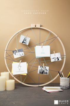 Embroidery Hoop Card Catcher | Maker Crate