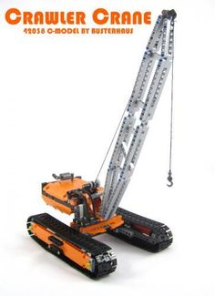 In anticipation of the Technic crawler crane which will be released in 2015 by Lego, here is an alternate model for the 42038 set. Transformers, Lego Crane, Lego Technic Sets, Construction Lego, Crawler Crane, Lego Ship, Lego Group, Big Rig Trucks, Lego Models