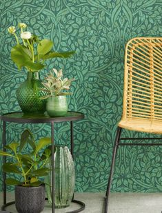 Swirling Leaves by Eijffinger - Green - Wallpaper : Wallpaper Direct Home Decor Items, Cheap Home Decor, Home Decor Accessories, Hallway Decorating, Entryway Decor, Office Decor, Eclectic Decor, Modern Decor, Craftsman Wallpaper