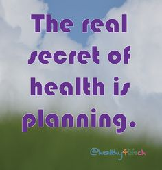 Plan your health!