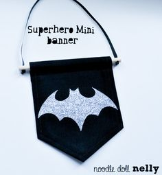 Superhero mini wall banner Banner Pennant by NoodledollNelly