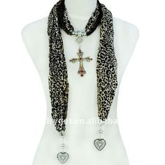 Aliexpress.com : Buy Christmas gift, Europe Fashion Leopard Design Cross Pendant Necklace Scarf, NL 1588 from Reliable jewellery scarf suppliers on Well Done Fashion Jewelry Co.,Ltd. $9.87