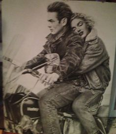 James Dean and Marilyn Monroe Poster Board, $25.00