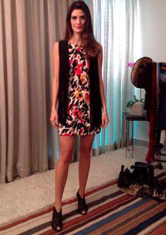 A apresentadora Isabella Fiorentino do programa Esquadrão da Moda, com nosso vestido maravilhoso estampado do inverno 2013!  Arrasou ❤