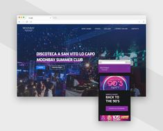 Web Design sito web Moonbay, discoteca a San Vito Lo Capo, Sicily Summer Club, Disco Club, Web Design, Design Web, Website Designs, Site Design