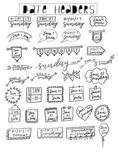 creative ways to write dates