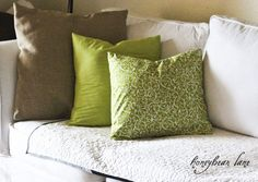 Ten Minute Pillow Cases (and 1/2yd of fabric) -For my 2 annoying down pillows that need recovered! Just be done w/ it already!